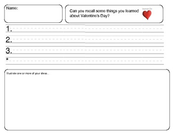 Close Reading ~ Valentine's Day: Expository Text Response and Understanding