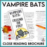Test Prep Vampire Bats Close Reading Brochure