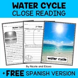 Water Cycle Close Reading Passage Activities