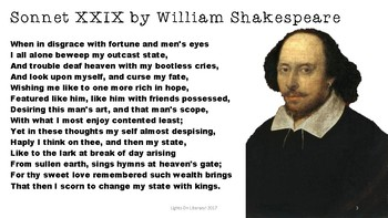 Close Reading: William Shakespeare Sonnet XXIX