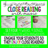 Close Reading With Music-Engage Your Readers {Set Four}