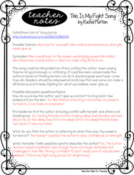 picture regarding Fight Song Lyrics Printable referred to as End Reading through With Songs-Interact Your People! Amount of money 1, Preset One particular