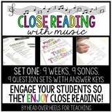 Close Reading With Music-Engage Your Readers! Vol. 1-Set One | Distance Learning