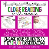 Close Reading With Music-Engage Your Readers {Volume 1, Set Two}