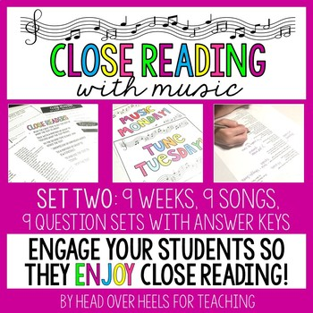 Close Reading With Music-Engage Your Readers {Set Two}