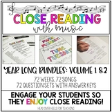 Close Reading With Music-Engage Your Readers! {Volume 1 and 2 Bundle!}