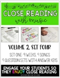 Close Reading With Music-Engage Your Readers! {Volume 2, Set Four}