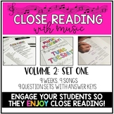 Close Reading With Music-Engage Your Readers! {Volume 2, Set One}