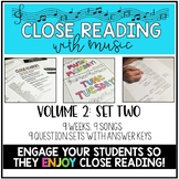 Close Reading With Music-Engage Your Readers! {Volume 2, Set Two}