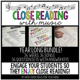 Close Reading With Music-Engage Your Readers! {Year Long Bundle}