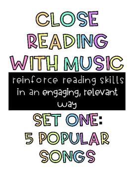 Fun Close Reading Activities Using Music and Song Lyrics
