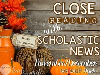 Close Reading With Scholastic News (Nov./Dec.) Gr.1
