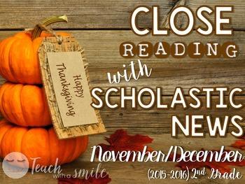 Close Reading With Scholastic News (Nov./Dec.) Gr.2