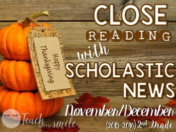 Close Reading With Scholastic News (Nov./Dec.) Gr.2