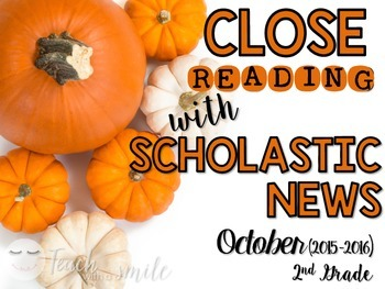 Close Reading With Scholastic News (October) Gr.2