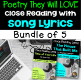 Poetry They Will LOVE: Close Reading With Song Lyrics- Bun