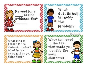 Text Dependent Question Cards - Close Reading Works with ANY story!