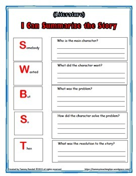Close Reading Worksheets for Literature Freebee