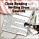Writing Prompts Citing Text Evidence