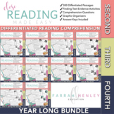 2nd - 4th Differentiated Close Reading Passages and Questions YEAR LONG BUNDLE