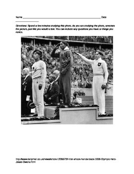 Close Reading a Picture- Jesse Owens