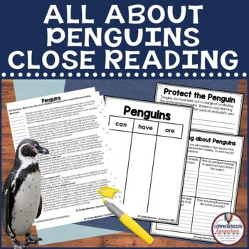 Tying fiction and nonfiction just got easier with Close Reading passages. This FREE close read can support your readers in learning about penguins.