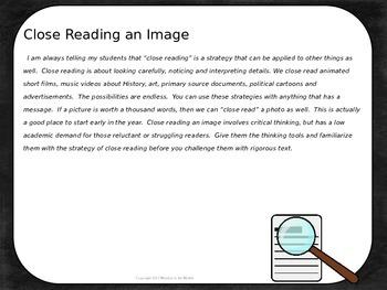 Close Reading an Image