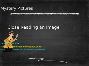 Close Reading an Image