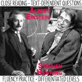 Close Reading and Fluency Practice  Albert Einstein & Step