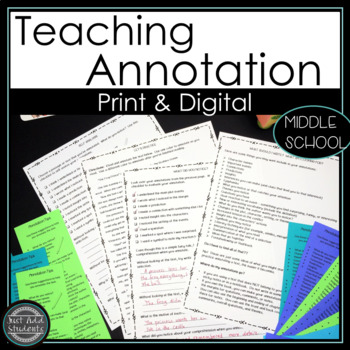 Close Reading and Annotating Literary Texts