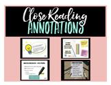Close Reading and Annotation Mini Lesson