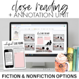 Close Reading and Annotation Mini-Unit