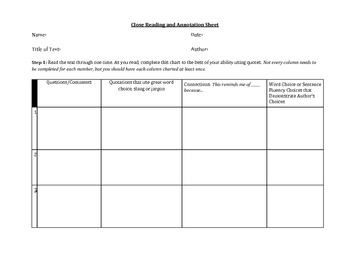 Meeting At Night Annotation Worksheet by hopered - Teaching ...