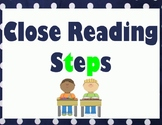 Close Reading and Annotation Steps - Lime and Navy