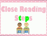 Close Reading and Annotation Steps - Lime and Pink