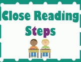 Close Reading and Annotation Steps - Purple and Teal