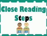 Close Reading and Annotation Steps - Teal and Black