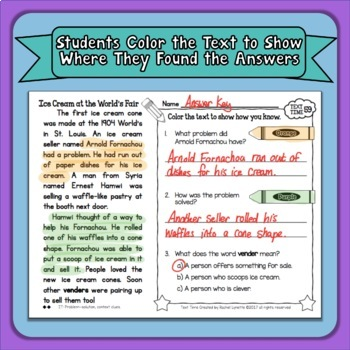 Reading Comprehension Passages and Questions Close Reading Passages Primary