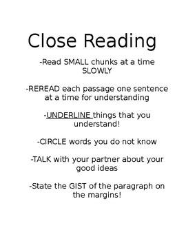 Close Reading and Critique Protocol