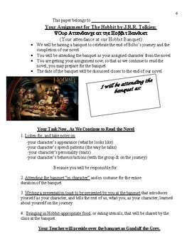 The Hobbit by J.R.R. Tolkien: Close Reading and Culminating Activity