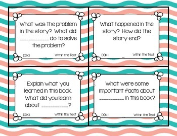 DOK aligned Readers Response Question Stems