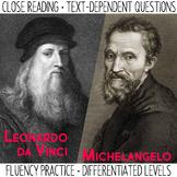 Close Reading and Fluency Practice | Leonardo da Vinci & M