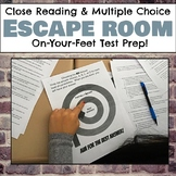Close Reading and Multiple Choice Escape (Breakout) Room for Grades 6-8