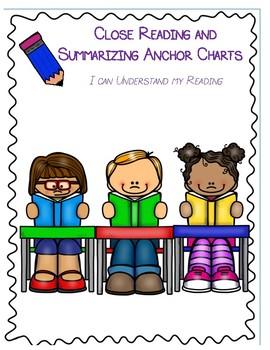 Close Reading and Summarizing Anchor Chart  and Interactive Notebook