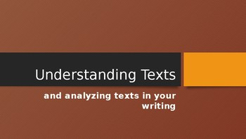 Close Reading and Text Dependent Analysis (TDA) Writing