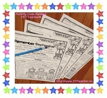 Close Reading and Text Evidence FREEBIE (Differentiated September Unit)