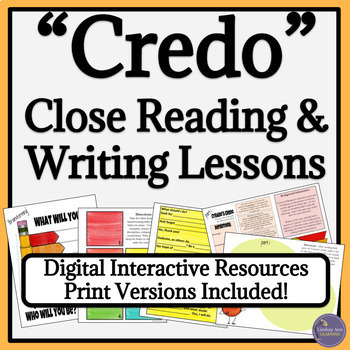Close Reading and Writing Lessons with Mentor Texts for High School Students