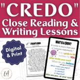 Cyrano de Bergerac Close Reading Lessons and Writing Assignment