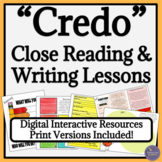 Cyrano de Bergerac Close Reading Lessons and Writing Assignment