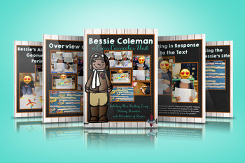 Close Reading and Writing Unit with Bessie Coleman - Mini Book Included